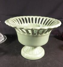 Large Pottery Sea Foam Green Center Bowl Unmarked