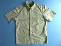 Gianni Vitorio Short Sleeve Casual Twill Shirt Size Large Green Striped RP $35