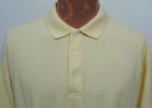 Nike Golf Mens XXL 2XL Light Yellow Cotton Polo Shirt