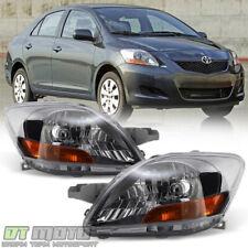 For 2007-2011 Toyota Yaris 4-Dr Sedan Replacement Headlights Headlamp Left+Right