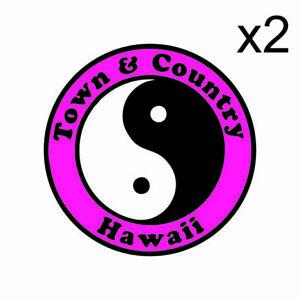 Stickers plastifiés Town & Country Magenta SURF- 8cm x 8cm