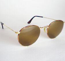 VINTAGE Ray B&L USA ROUND Ban in metallo occhiali da sole TORTUGA John Lennon Classic Gold