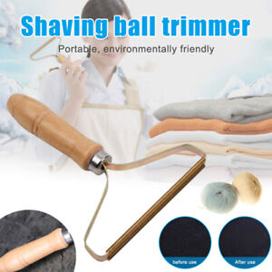 LINT CLEANER PRO Wooden Manual Clothes Fluff Remover Fabric Sweater Fuzz Shaver