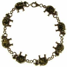 8 Inch/20cm Baltic Amber Sterling Silver 925 Elephant Bracelet Jewellery Jewelry
