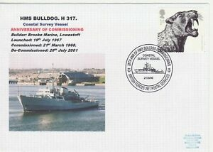 GB Stamps Navy Souvenir Cover HMS Bulldog Coastal Survey Vessel, launch 2006