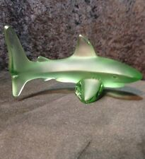 Lalique Green Shark With Lalique Box