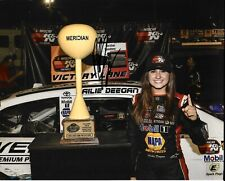 2018 Hailie Deegan 1st WIN NASCAR K&N Series Signed 8x10 Photo COA