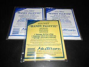 MASTERSON 8571, STA-WET HANDY PALETTE REPLACEMENT ACRYLIC PAPER & SPONGE