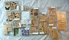 Large lot of 140 rubber stamps, most wood-mounted - all categories