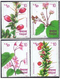 Nepal 2020  Plants of Nepal Flowers Nature stamp set 4v MNH