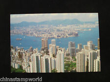 old HK postcard,hk and kowloon from the peak,unused,no.88