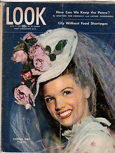 1945 LOOK April 3-Bogart & Bacall; B-29; Abilene TX; Tom Connolly; Ashtabula OH
