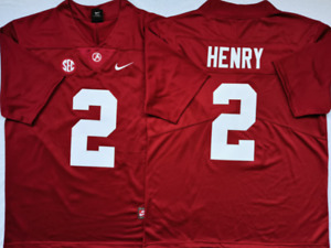 Men's Alabama Crimson Tide Red #2 HENRY Stiched Custom Jersey