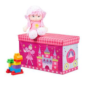 Sitzbox Kinder Spielzeugkiste Staubox Faltbox Aufbewahrung Kinderzimmer Stauraum