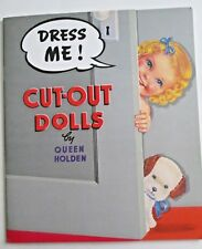 DRESS ME! Cut Out Paper Dolls by Queen Holden 1987 UNCUT