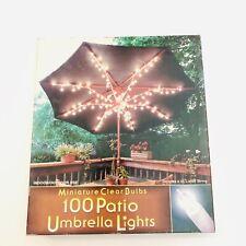 New Patio Umbrella White Lights Minature Bulb 100 Count Open Box