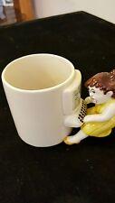 Omnibus Mug Fitz & Floyd Woman frustrated at Computer Screen Coffee Tea Cup Mug