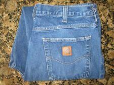 Carhartt Blue Cotton Relaxed Fit Denim Work Pants Rn 51374 34x32