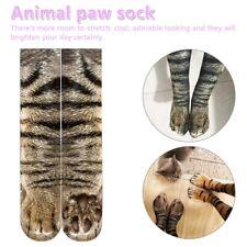 Unisex Animal Paw Socks 3D Printed Crew Hoof Tube Funny Men Women Cat Elastic AU