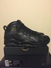 Nike Air Jordan 10 Retro NYC Black UK Size 8.5 EU 43 US 9.5