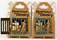 Disney Doorways Pirates of Caribbean Dog & Key Jail Scene Hinged Pin LE 4000 NEW