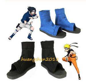 Naruto Shippuuden Ninja Shoes Boots Black Bule White Cosplay Akatsuki Free Ship