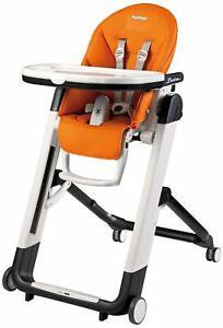 Peg Perego Siesta Multifunctional Ultra-Compact Kids Highchair Recliner Arancia