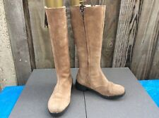 UNBRANDED LADIES TAN FAUX FUR LINED FAUX SUEDE HIGH CALF/KNEE LENGTH BOOTS 3UK
