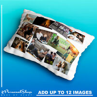Personalised Photo Pillowcase Cushion Pillow Case Cover Collage Present 12 pics