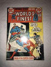 World's Finest #215 VF- 1st Super Sons (Batman & Superman Jr) DC Comics 1973
