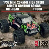 1/32 Mini 20KM/h High Speed Remote Control RC Car Off-road Truck Gift