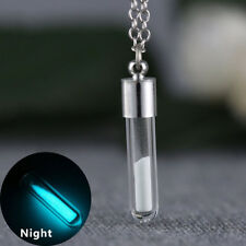 Jewelry Bottle For Women Vial Pendant Glow In The Dark Necklace Glass Bottle