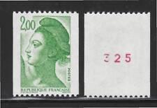 FRANCE N° 2487a ** MNH neuf sans charnière, Numéro rouge au verso, Liberté, TB