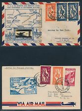 FAM18 (2) DIFF. CROSBY FIRST FLT TRANS-ATLANTIC COVERS HORTA TO USA BR2114