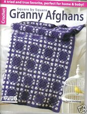 Square by Square Granny Afghans ~ NEW  ~ Crochet Book  ~ Leisure Arts
