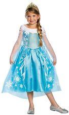 New Disney Frozen Princess Elsa  Deluxe Dress Costume & Tiara  Size  M 7-8