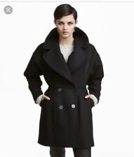 H&M black winter coat Double-breasted In A Wool Blend Eur40
