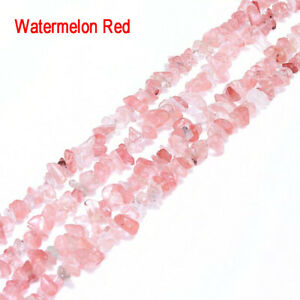 """Freeform Natural Gemstone Chips Beads For Jewelry Making 34"""" Bulk 5-8mm"""