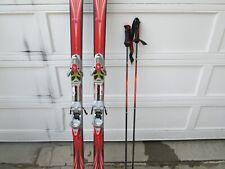 K2 Power Skis With Salomon Bindings, Bag, and Pair of GOODE Ski Poles