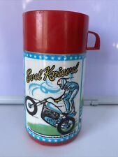 Vintage Aladdin Thermo Bottle Evel Knievel 1974