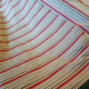 Pottery Barn Queen Bed Skirt ~ Classic Red Striped French Ticking