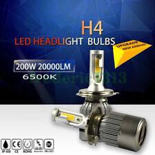 H4 COB HB2 9003 200W 20000LM LED Headlight Kit Hi/Lo Power Bulbs 6500K