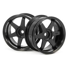 HPI 3846 Te37 Wheels 26mm black 6mm Offset/26mm Tires (2)