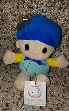 "Sanrio Smiles Hello Kitty vintage 6"" plush boy character doll RARE"