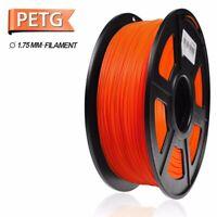 SUNLU PETG 3D Printer Filament 1.75mm 1KG/2.2LB Spool Orange PETG High Quality