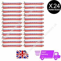 24 X Perming Rod Rollers Perm Curlers Perm Rod Size ORANGE / BLUE two tone rods