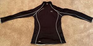 Mizuno Womens Running Top Size Small Black Gray