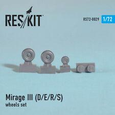 Dassault Mirage ( IIID/IIIE/IIIR/IIIS) Aircraft Wheels Set RS72-0029 1:72 Reskit
