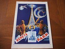 Vintage Soviet Circus Advertising Poster 1930 Bereta Eder 11.5x16 Russia