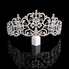 Cristal Tiaras de Novia Oro Rosa Diadema Corona Novia Reina Pedrería Adornos
